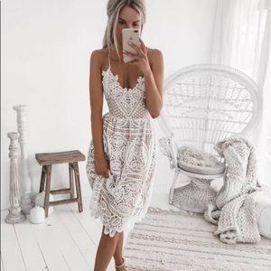 Spaghetti Strap Crochet Dress